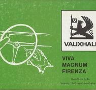 1974 Vauxhall Viva, Magnum och Firenza Instruktionsbok svensk