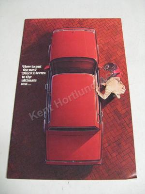1984 Buick Electra Försäljningsbroschyr