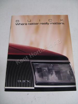 1987 Buick Försäljningsbroschyr
