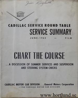 1963 Cadillac Service summary June 1963