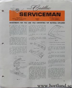 1963 Cadillac Serviceman March