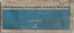 1968 Chrysler Operating Instructions