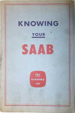 1956 SAAB 93 Instruktionsbok
