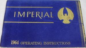 1964 Imperial Operating Instructions