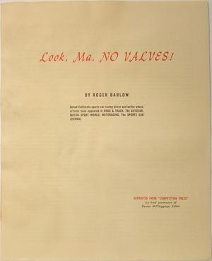 1960 SAAB broschyr Look, Ma, NO VALVES!