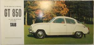 1963 SAAB GT 850 broschyr