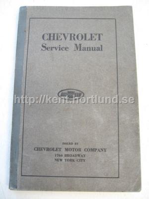 1919 Chevrolet Service Manual