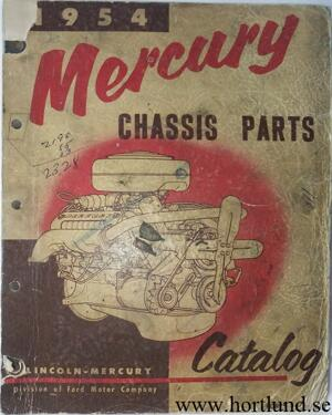 1954 Mercury Chassis Parts Catalog