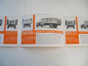 1932 Chevrolet Försäljningsbroschyr 1½ Ton Stake Trucks Folder
