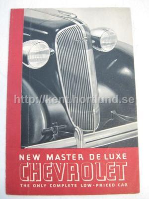 1933 Chevrolet Försäljningsbroschyr Master Deluxe The New Complete Low-Priced Car