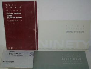1990 Dodge Diesel Ram Pickup Owner's Manual