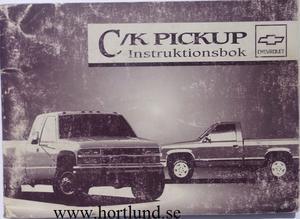1994 Chevrolet C/K Pickup Instruktionsbok svensk