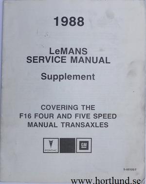 1988 Pontiac Le Mans Service Manual