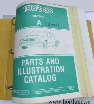 1982-1988 Pontiac A 6000 Parts and Illustration Catalog