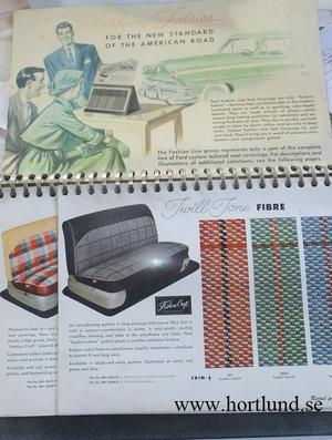1952 - 1954 Ford Seat Coverings Dealer Album