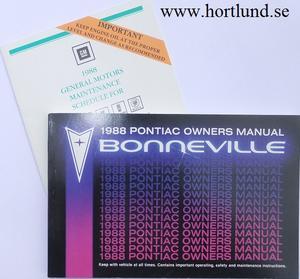 1988 Pontiac Bonneville Owners Manual