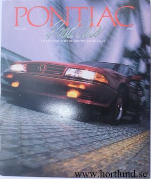 1988 Pontiac broschyr alla modeller