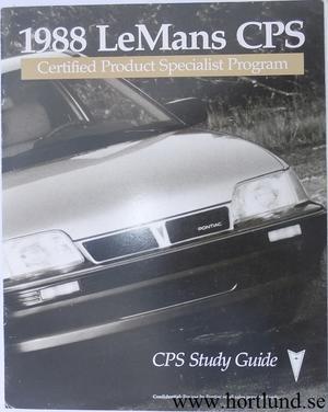 1988 Pontiac Le Mans broschyr CPC