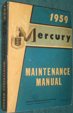 1959 Mercury Maintenance Manual