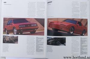 1990 Pontiac alla modeller broschyr