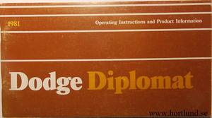 1981 Dodge Diplomat Operating Instructions