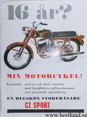 1970 CZ 125-175 Sport broschyr