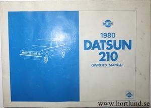 1980 Datsun 210 Owner's Manual