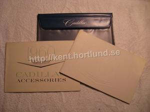 1960 Cadillac Owners manual + Accessories and original envelope, Like New