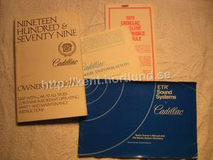 1979 Cadillac Owners Manual, Consumer Information, Mantenance Schedule, Radio Manual