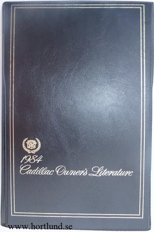 1984 Cadillac Owners Litterature Complete set with original folder