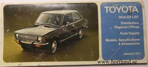 1971 Toyota Dealer list 2:dra utg