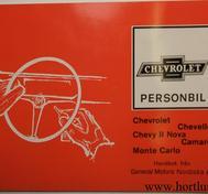 1971 Chevrolet, Chevelle, Chevy II Nova, Camaro och Monte Carlo Handbok Svenska