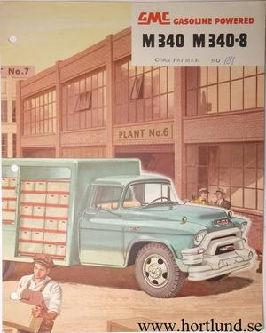 1955 GMC M340 M340-8  Truck Broschyr