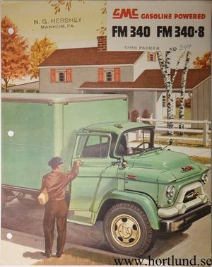 1955 GMC FM340 FM340-8  Truck Broschyr