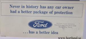 1967 Ford, Mercury och Lincoln Warranty broschyr