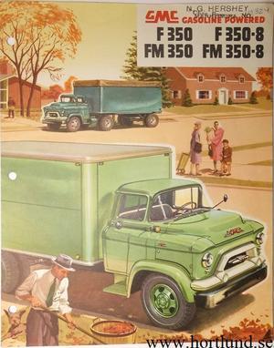 1955 GMC F350 F350-8 FM350 FM350-8 Truck Broschyr
