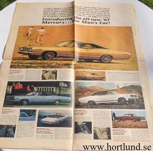 1967 Mercury alla mod broschyr folder