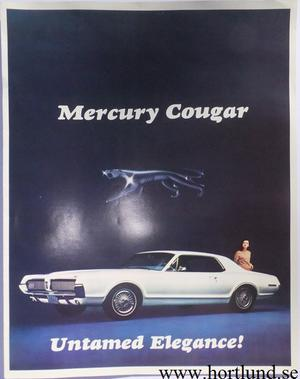 1967 Mercury Cougar broschyr folder