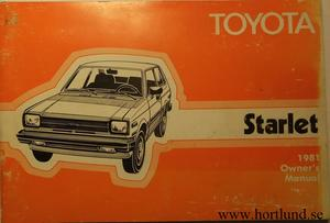 1981 Toyota Starlet Owner's Manual
