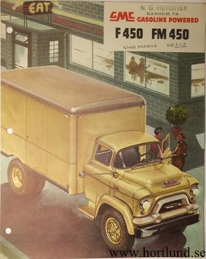 1955 GMC F450 FM450 Truck Broschyr