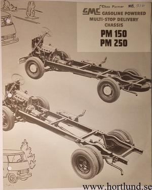 1955 GMC PM150 PM250 Truck Broschyr