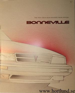 1987 Pontiac Bonneville broschyr