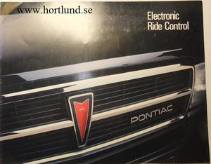 1987 Pontiac Electronic Ride Control broschyr
