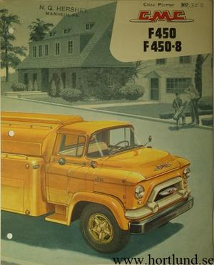 1956 GMC F450 F450-8 Truck Broschyr