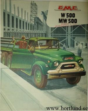 1956 GMC W500 MW500 Truck Broschyr