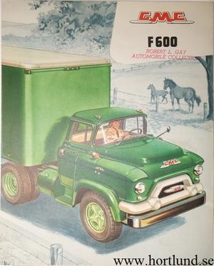 1956 GMC F600 Truck Broschyr