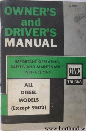 1970 GMC 5500-9500 Diesel Truck Owner's Manual