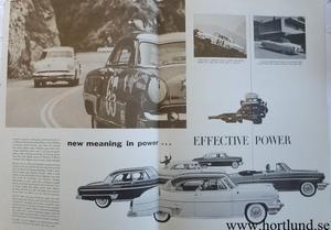 1954 Lincoln stor broschyr 1-2-3