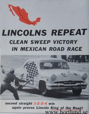 1954 Lincoln Mexican Road Race broschyr