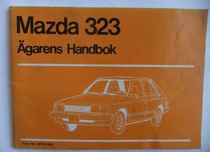 1981 Mazda 323 Instruktionsbok